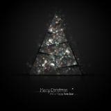 Dark Silver Christmas Greeting Stock Photo