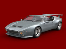 Dark silver eighties cool sports car Royalty Free Stock Photos