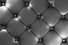 Dark Silver Leather Royalty Free Stock Photography