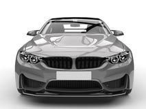 Dark silver modern sports car - closeup shot Stock Photos