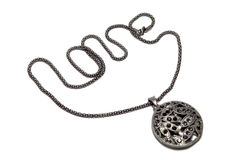 Dark silver pendant ... Stock Photos
