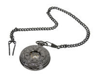 Dark Silver Pocket Watch Royalty Free Stock Photos