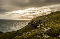 Dark skies at Neist Point Royalty Free Stock Photo
