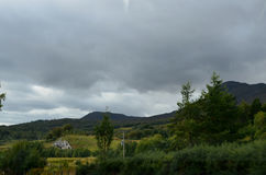 Dark Skies over the Cairngorms Mountain Range in Scotland Royalty Free Stock Images