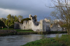 Dark Skies Over Desmond Castle in Ireland Stock Images