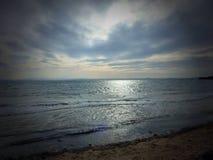 Dark Skies. Pettycur Bay, Fife Stock Photo