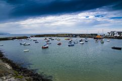 Dark Skies at Portrush Harbour. Dark skies at the harbour at Portrush , Co. Antrim, N.Ireland Stock Photography