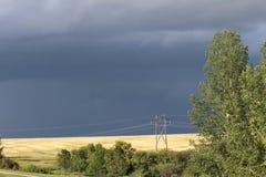 Dark skies of a prairie storm Royalty Free Stock Image