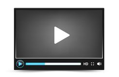 Dark skin vector video player interface Royalty Free Stock Photos
