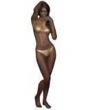 Dark Skinned Bikini Beauty Royalty Free Stock Images