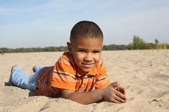 Dark-skinned boy Stock Photos