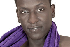 Dark-skinned young man Stock Photography