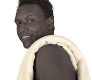 Dark-skinned young man Stock Image