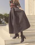 Dark skirt on a woman Stock Photo