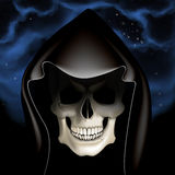 Dark skull. Full vector illustration Royalty Free Stock Image