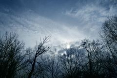 Dark sky. In the afternoon Stock Photography
