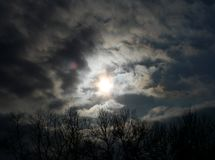 Dark sky royalty free stock photo