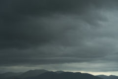 Dark sky climate scene moody cloudy strom nature Royalty Free Stock Photo