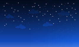 Dark sky with clouds. Starry dark sky with clouds royalty free illustration