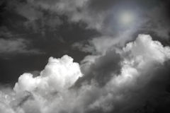 Dark sky with clouds. Dark sky with storm clouds stock photo