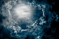 Dark sky with moon Royalty Free Stock Photography