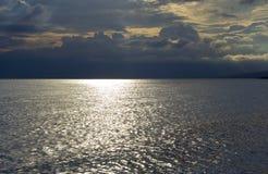 Dark sky over Adriatic sea Royalty Free Stock Photo