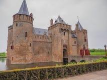 Dark sky  over Muiderslot Castle in the Netherlands Royalty Free Stock Image