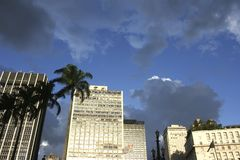 Dark Sky over Sao Paulo Stock Photo