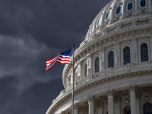 Dark Sky over US Capitol Building Royalty Free Stock Photos
