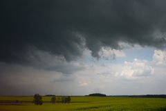 Dark sky before raining in spring Royalty Free Stock Photography