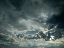 Dark sky. Sky turning dark Stock Photo