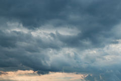 Dark sky with storm clouds Stock Photo