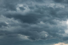Dark sky with storm clouds Royalty Free Stock Image
