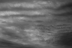 Dark sky and stormy unusual clouds. Royalty Free Stock Photos