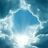 Dark sky with sun royalty free stock photography