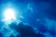 dark sky with sun Stock Image