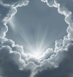 Dark sky with sun Royalty Free Stock Images