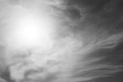 Dark sky with sun. Stock Photos