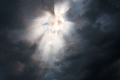 Dark sky with sun Royalty Free Stock Photo