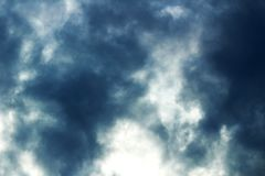 Dark sky before a thunderstorm or hail. Clouds and clouds. royalty free stock photos