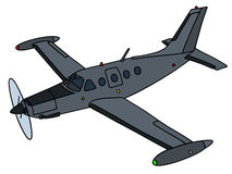Dark small watch aircraft Royalty Free Stock Photos