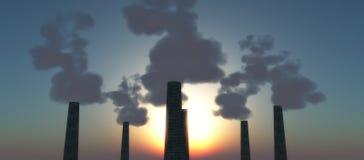 Dark smoke Royalty Free Stock Image