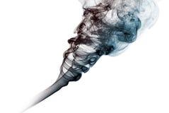 Dark smoke isolated Royalty Free Stock Photos
