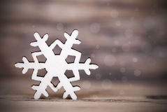 Dark Snowflake Background Stock Image