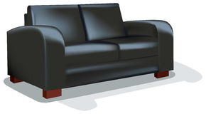 Free Dark Sofa Over White Backgrund Royalty Free Stock Image - 7438206