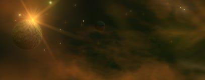 Dark Space Panorama Stock Image