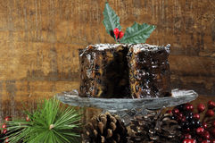 Dark spicy rich Christmas fruit cake Stock Images