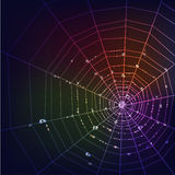 Dark spider web background Royalty Free Stock Images