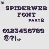 Dark spiderweb alphabet part 2. Halloween concept. Vector illustration Stock Image
