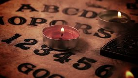 Dark Spiritual Game Ouija Board. Witchcraft soul Caller stock video footage